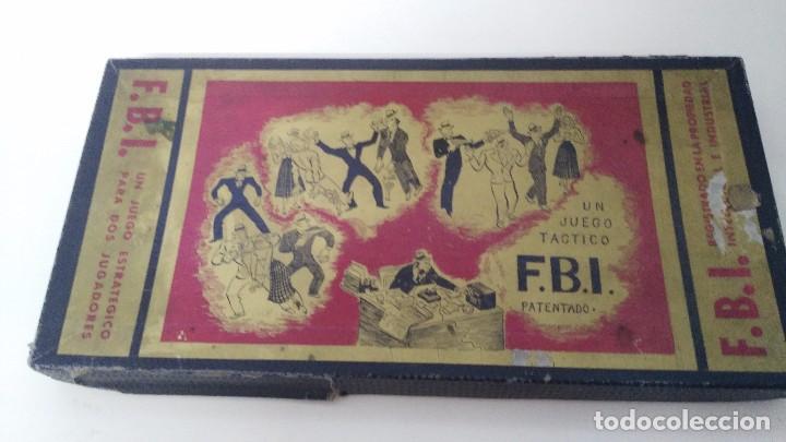 JUEGO DE MESA FBI JUEGOS CRONE AÑOS 60 (Juguetes - Juegos - Juegos de Mesa)
