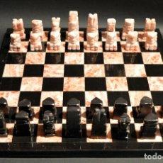 Juegos de mesa: MAGNIFICO AJEDREZ EN MARMOL PIEDRA ONIX. Lote 102825463