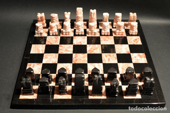 Juegos de mesa: MAGNIFICO AJEDREZ EN MARMOL PIEDRA ONIX - Foto 2 - 102825463