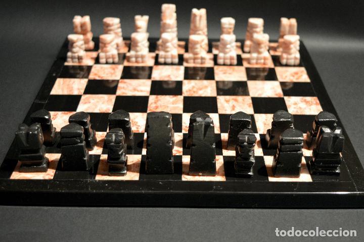 Juegos de mesa: MAGNIFICO AJEDREZ EN MARMOL PIEDRA ONIX - Foto 3 - 102825463