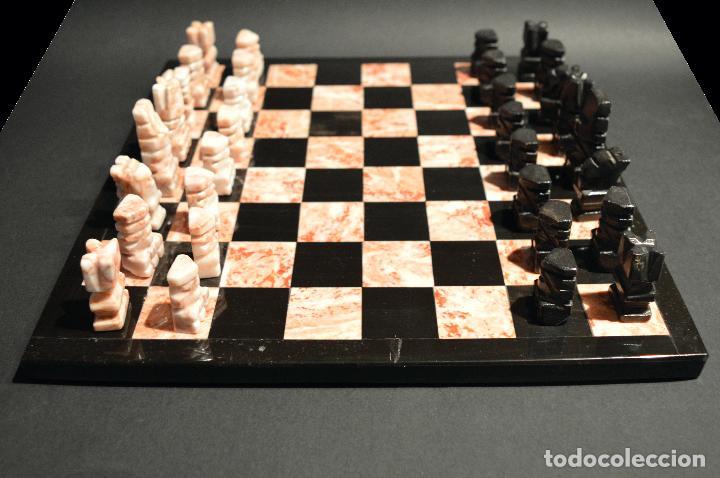 Juegos de mesa: MAGNIFICO AJEDREZ EN MARMOL PIEDRA ONIX - Foto 4 - 102825463