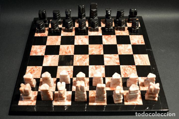 Juegos de mesa: MAGNIFICO AJEDREZ EN MARMOL PIEDRA ONIX - Foto 5 - 102825463