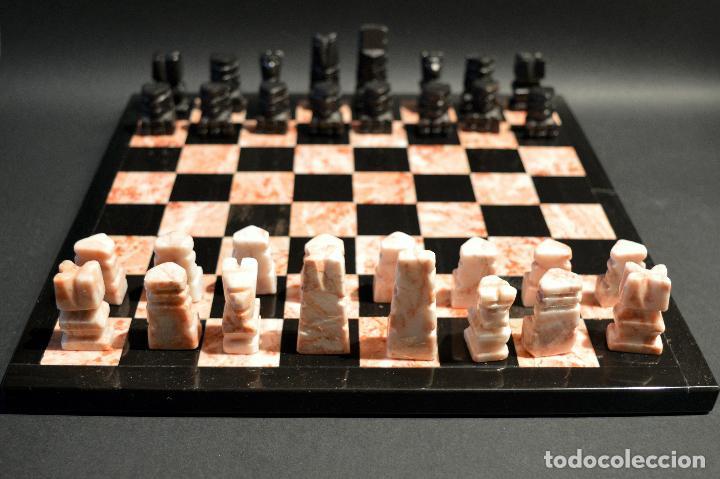 Juegos de mesa: MAGNIFICO AJEDREZ EN MARMOL PIEDRA ONIX - Foto 6 - 102825463
