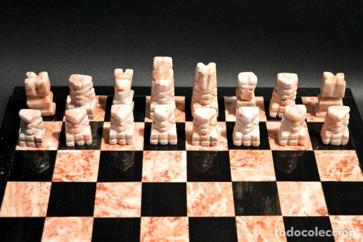 Juegos de mesa: MAGNIFICO AJEDREZ EN MARMOL PIEDRA ONIX - Foto 7 - 102825463