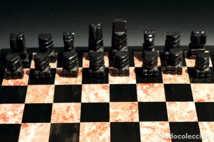 Juegos de mesa: MAGNIFICO AJEDREZ EN MARMOL PIEDRA ONIX - Foto 8 - 102825463