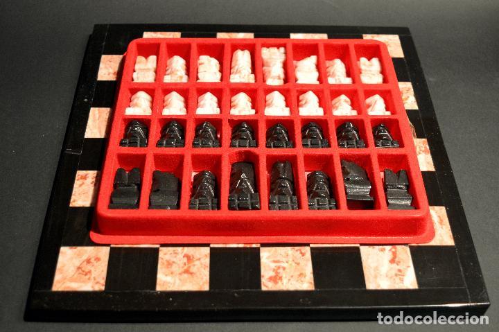 Juegos de mesa: MAGNIFICO AJEDREZ EN MARMOL PIEDRA ONIX - Foto 11 - 102825463