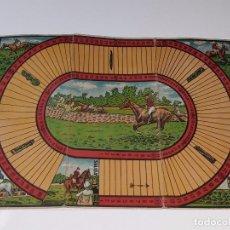 Juegos de mesa: ANTIGUO TABLERO DE CARTON - JUEGO DE MESA - HIPODROMO - CARRERAS DE CABALLOS DE BORRAS AÑOS 20 / 30. Lote 103015007