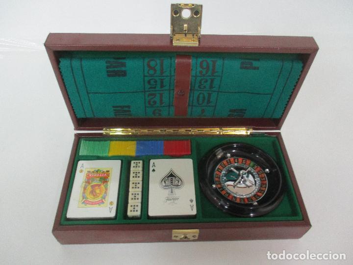 Juego De Mesa Estuche Ruleta Cartas Dados Comprar Juegos De