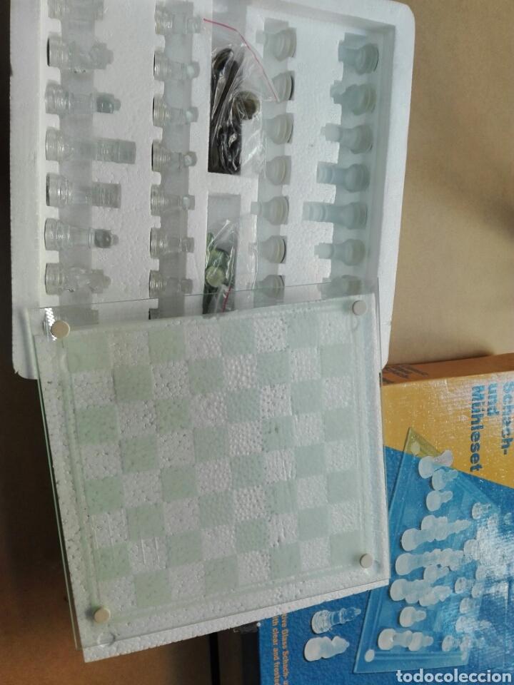 Juegos de mesa: Juego de ajedrez y de damas en cristal nuevo sin estrenar - Foto 2 - 103818591