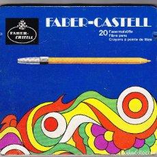 Juegos de mesa: CAJA METALICA FABER-CASTELL - 19.5 X 18 CMS - SIN ROTULADORES. Lote 103947115
