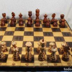 Juegos de mesa: AJEDREZ GRANDE DE MADERA. Lote 104111835