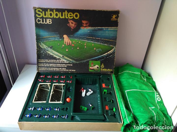 ANTIGUO JUEGO DE MESA FUTBOL SUBBUTEO CLUB BORRAS VINTAGE AÑOS 80 (Juguetes - Juegos - Juegos de Mesa)