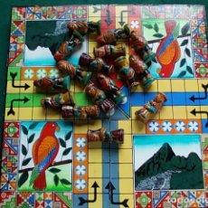 Juegos de mesa: PARCHIS ARTESANO CON CAJA. Lote 104595775
