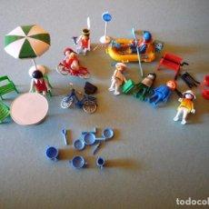 Juegos de mesa: LOTE 8 CLIPS FAMOBIL GEOBRA 1974 (MENOS 1 SIN MARCA GEOBRA) + ACCESORIOS JARDIN, NAUTICOS, INDIO,ETC. Lote 105943684