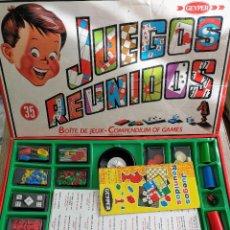 Juegos de mesa: ANTIGUO JUESGOS REUNIDOS EN MUY BUEN ESTADO DE CONSERVACION INTERIOR - A SIMPLE VISTA PARECE COMPLET. Lote 105372383