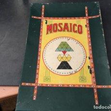 Juegos de mesa: MOSAICO. ANTIGUO JUGUETE DE MESA 32 X 22 CON 4 PLANTILLAS PARA FORMAS FIGURAS (J-0). Lote 105373919