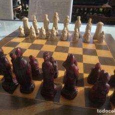 Juegos de mesa: AJEDREZ NAPOLEON WELLINGTON. EN PASTA. UNICO EN VARIAS WEB. BUEN TAMAÑO. Lote 106051659