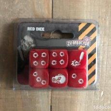 Juegos de mesa: JUEGO DE MESA - PACK DE DADOS ROJOS PARA ZOMBICIDE - EDGE - ACCESORIO. Lote 106602919