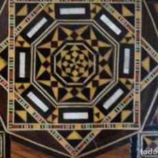 Juegos de mesa: AJEDREZ Y BACKGAMON REALIZADO EN MARQUETERIA CON INCRUSTACIONES DE MADERAS NOBLES Y NACAR. Lote 107000963