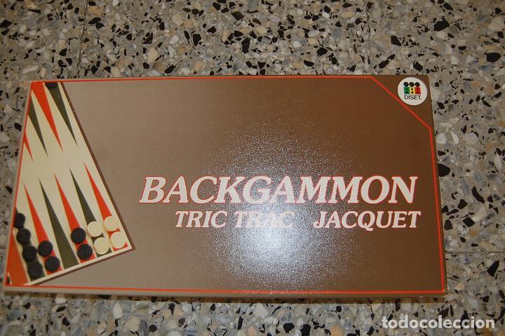 JUEGO MESA BACKGAMMON. CASA DISET. COMPLETO (Juguetes - Juegos - Juegos de Mesa)