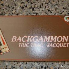 Juegos de mesa: JUEGO MESA BACKGAMMON. CASA DISET. COMPLETO. Lote 107265779