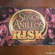 Juegos de mesa: CAJA + TABLERO RISK SEÑOR DE LOS ANILLOS PARKER. Lote 107623403