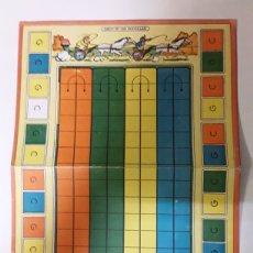Juegos de mesa: TABLERO EN CARTON JUEGO LAS QUINIELAS KARPA. Lote 108335323