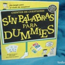 Juegos de mesa: SIN PALABRAS PARA DUMMIES - JUEGO DE MESA DE POPULAR DE JUGUETES - COMPLETO. Lote 108789147