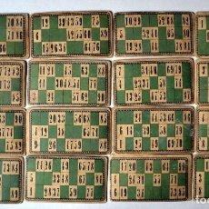 Juegos de mesa: LOTE DE 21 CARTONES ANTIGUOS DE BINGO. Lote 109497231