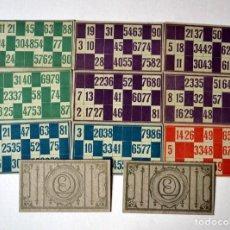 Juegos de mesa: LOTE DE 23 CARTONES ANTIGUOS DE BINGO. Lote 109498191