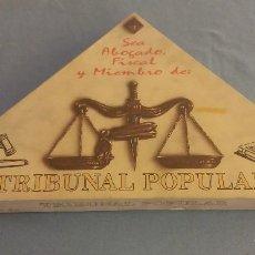 Juegos de mesa: DIFICIL JUEGO DE MESA TRIBUNAL POPULAR DE CEJU AÑO 1991 A ESTRENAR. Lote 109853035