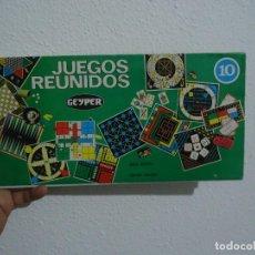 Juegos de mesa: COMPLETA TU SET DE LOS JUEGOS REUNIDOS CON EL PACK DE CARTONES DE JUEGO 10. Lote 110143939