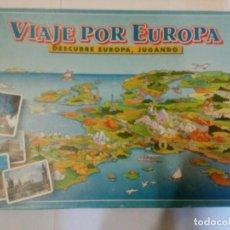 Juegos de mesa: JUEGO VIAJE POR EUROPA - DESCUBRE EUROPA, JUGANDO EDUCA - 1994 / COMPLETO. Lote 110360363