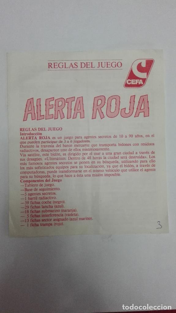 Cefa Reglas Del Juego Instrucciones Alerta Roja Comprar Juegos De