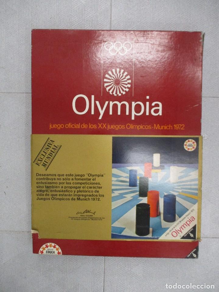 OLYMPIA JUEGO OFICIAL DE LOS JUEGOS OLIMPICOS MUNICH 72 EDUCA COMPLETO UNICO EN TODOCOLECCION RARO (Juguetes - Juegos - Juegos de Mesa)
