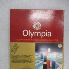 Juegos de mesa: OLYMPIA JUEGO OFICIAL DE LOS JUEGOS OLIMPICOS MUNICH 72 EDUCA COMPLETO UNICO EN TODOCOLECCION RARO. Lote 110472119
