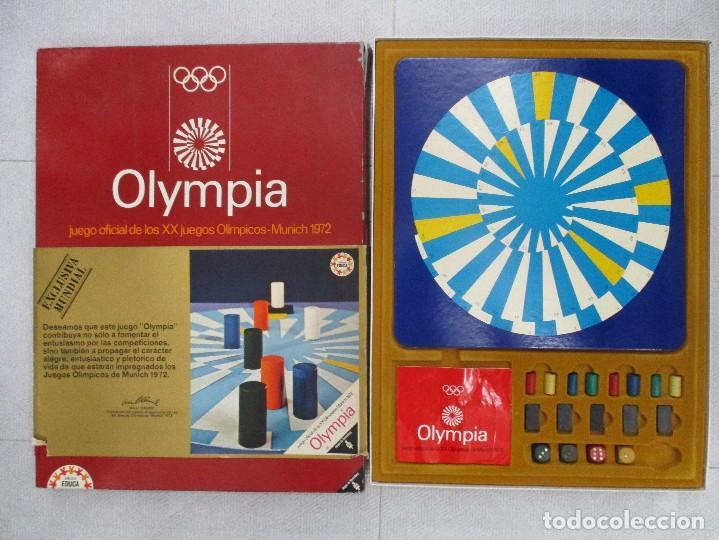 Juegos de mesa: OLYMPIA JUEGO OFICIAL DE LOS JUEGOS OLIMPICOS MUNICH 72 EDUCA COMPLETO UNICO EN TODOCOLECCION RARO - Foto 2 - 110472119