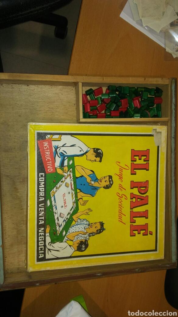 Juegos de mesa: Juego del pale con caja de madera - Foto 2 - 110641060