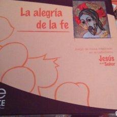 Juegos de mesa: LA ALEGRIA DE LA FE. JUEGO DE MESA INSPIRADO EN EL CATECISMO.EDICE.. Lote 110751970