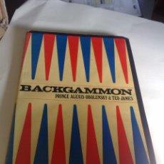 Juegos de mesa: LIBRO DE BACKGAMMON - PRINCE ALEXIS OBOLENSKY & TED JAMES (TAPA DURA CON SOBRECUBIERTA, EN INGLÉS). Lote 111095055