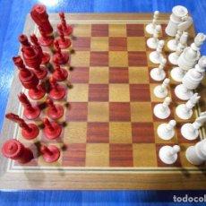 Juegos de mesa: PRECIOSO JUEGO DE AJEDREZ. MARFIL TORNEADO Y TALLADO. COMPLETO. EUROPA. SIGLO XIX-XX. Lote 111285359
