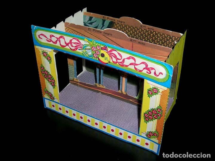 Juegos de mesa: Raro Mini Teatro Teatrín Sanza Estudio, 18 x 13,5 x 10 cms., original años 50? - Foto 2 - 111299575