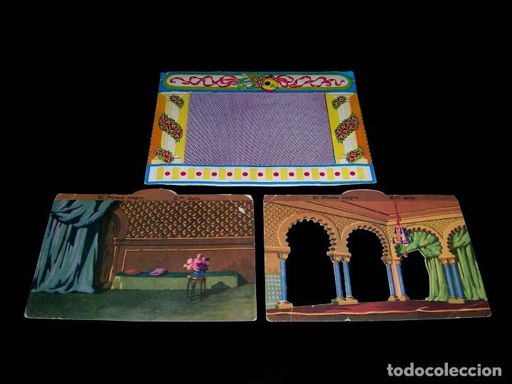 Juegos de mesa: Raro Mini Teatro Teatrín Sanza Estudio, 18 x 13,5 x 10 cms., original años 50? - Foto 3 - 111299575