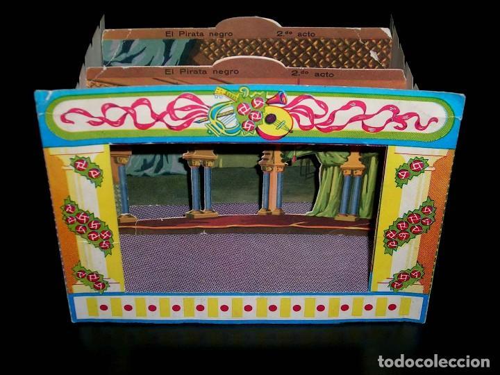 Juegos de mesa: Raro Mini Teatro Teatrín Sanza Estudio, 18 x 13,5 x 10 cms., original años 50? - Foto 4 - 111299575