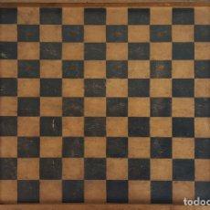 Juegos de mesa: TABLERO DOBLE. AJEDREZ Y JUEGO DE DAMAS. MADERA. SIGLO XIX-XX. . Lote 111569575