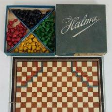 Juegos de mesa: JUEGO DE SOBREMESA. AJEDREZ Y DAMAS. DOBLE TABLERO. HALMA. MODELO 1603. CIRCA 1950. . Lote 111673991