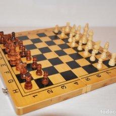 Juegos de mesa: AJEDREZ CON .BACKGAMMON.. Lote 111901171