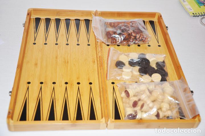 Juegos de mesa: Ajedrez con .Backgammon. - Foto 2 - 111901171