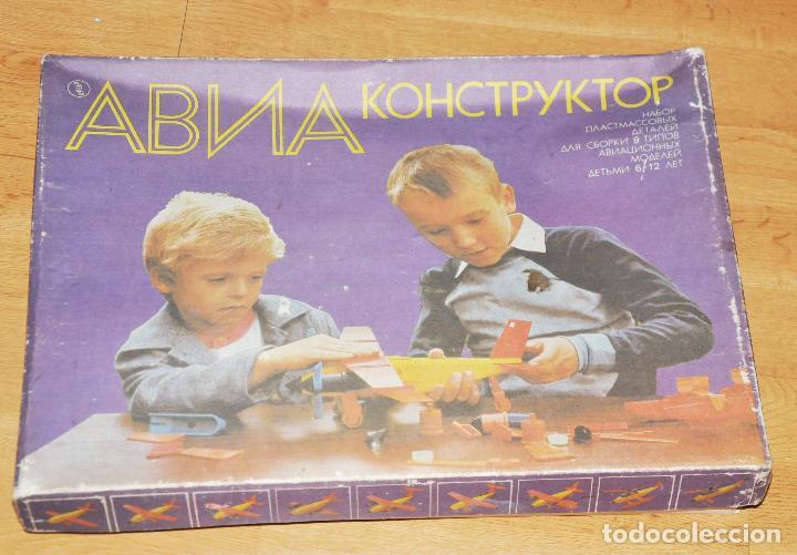 Juegos de mesa: JUEGO DE MESA AVIO - CONSTRUCTOR CON CAJA ORIGINAL.URSS 1988A - Foto 9 - 110952551