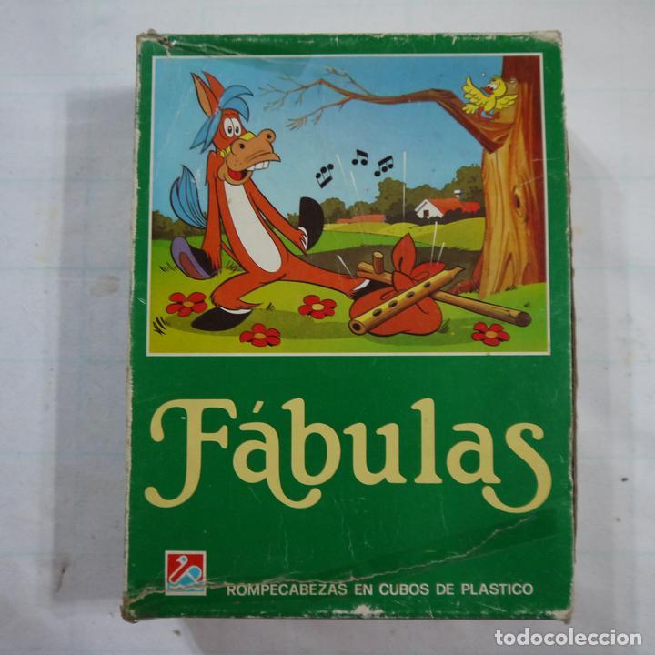 ROMPECABEZAS DE 12 CUBOS DE PLÁSTICO - FABULAS TOMO I (Juguetes - Juegos - Juegos de Mesa)